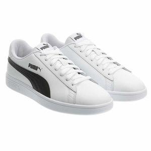 Puma Men's Smash Leather Sneaker Shoes - White